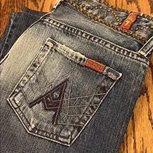 """Rare! Studded """"A"""" Pocket Jeans - Size 26"""